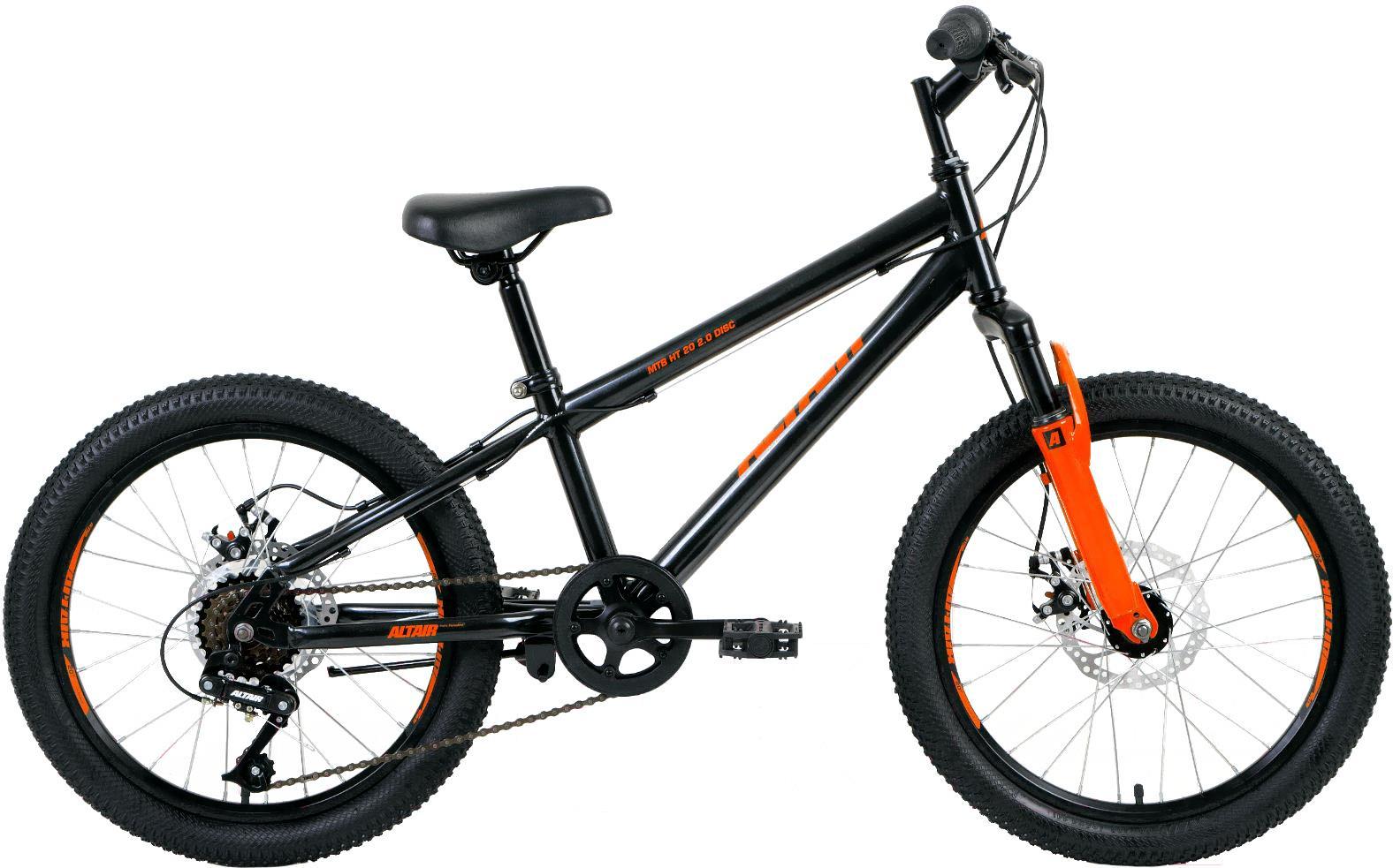 Велосипед Altair MTB HT 20 2.0 disc 10.5 черный/оранжевый