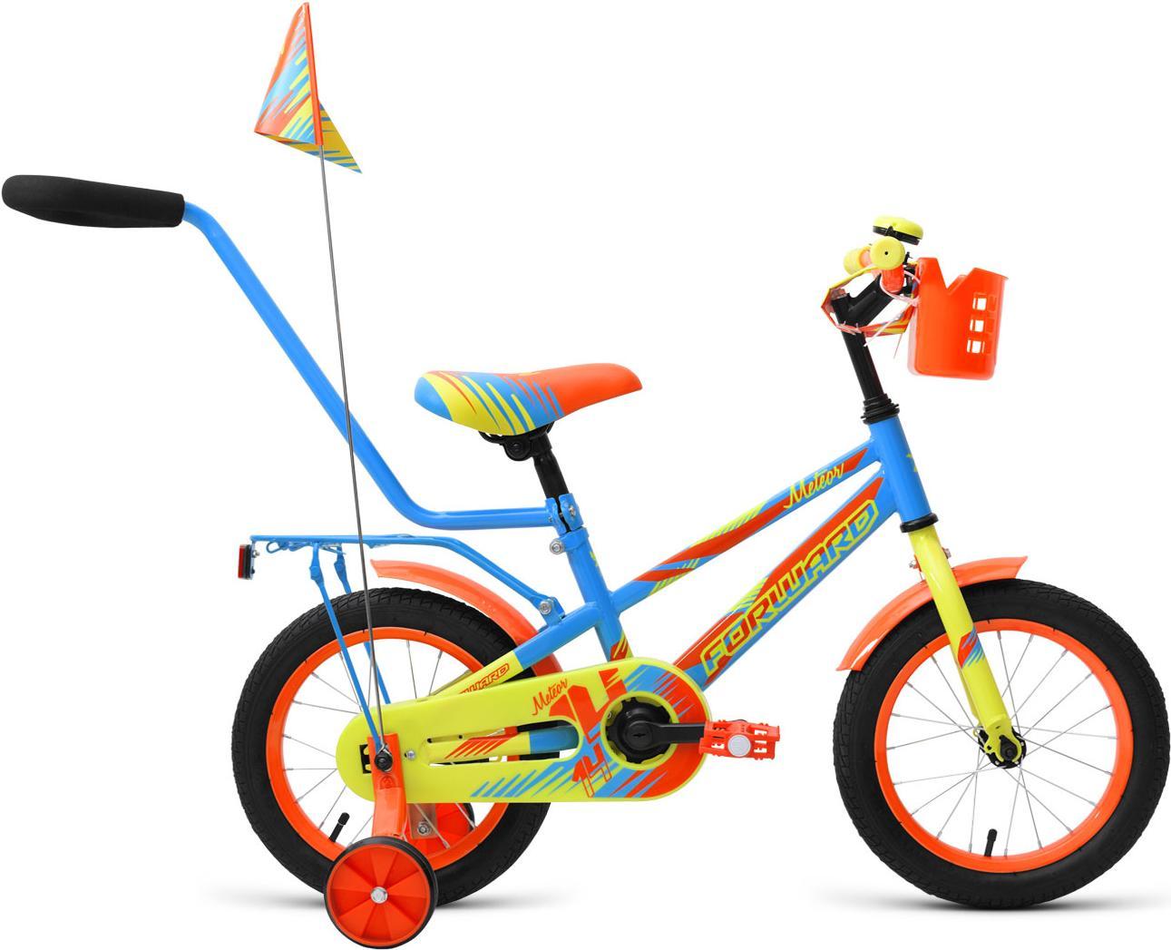 Велосипед Forward Meteor 14 2019 детский голубой/зеленый [RBKW9LNF1004], Meteor 14 2019 детский